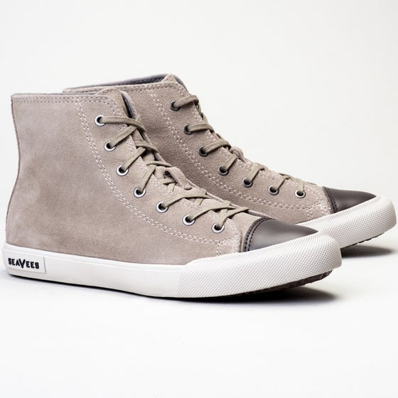 2016 Seavees Womens Army Issue High Top Suede Sneaker