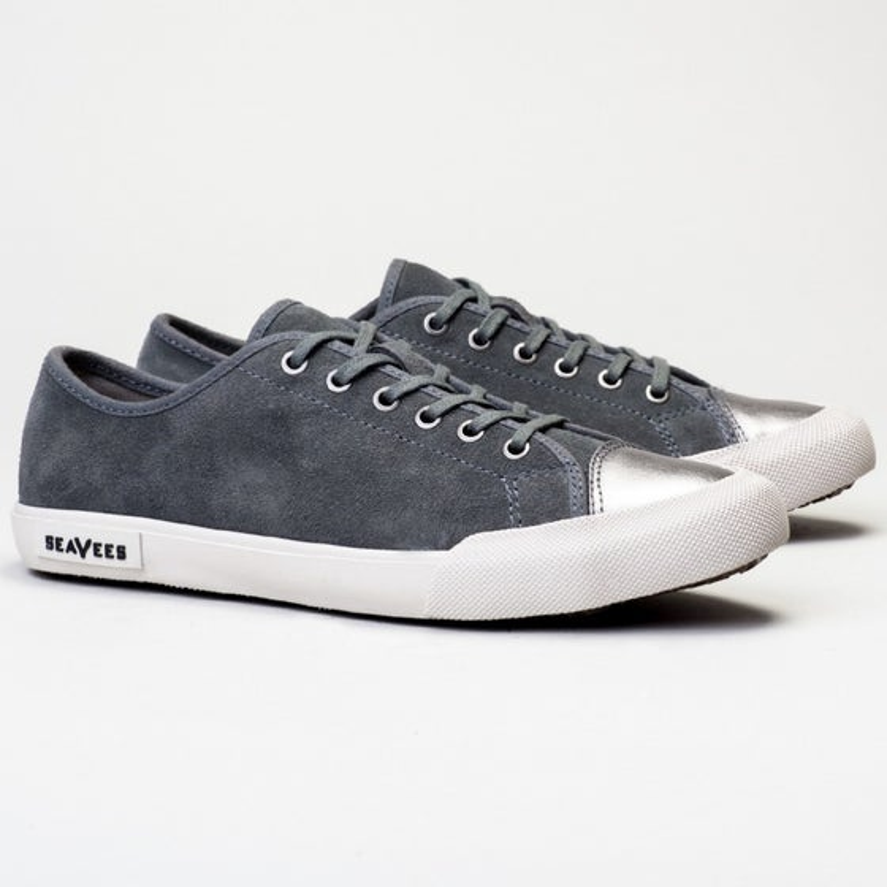 2016 Seavees Womens Army Issue Suede Sneaker in Greyboard