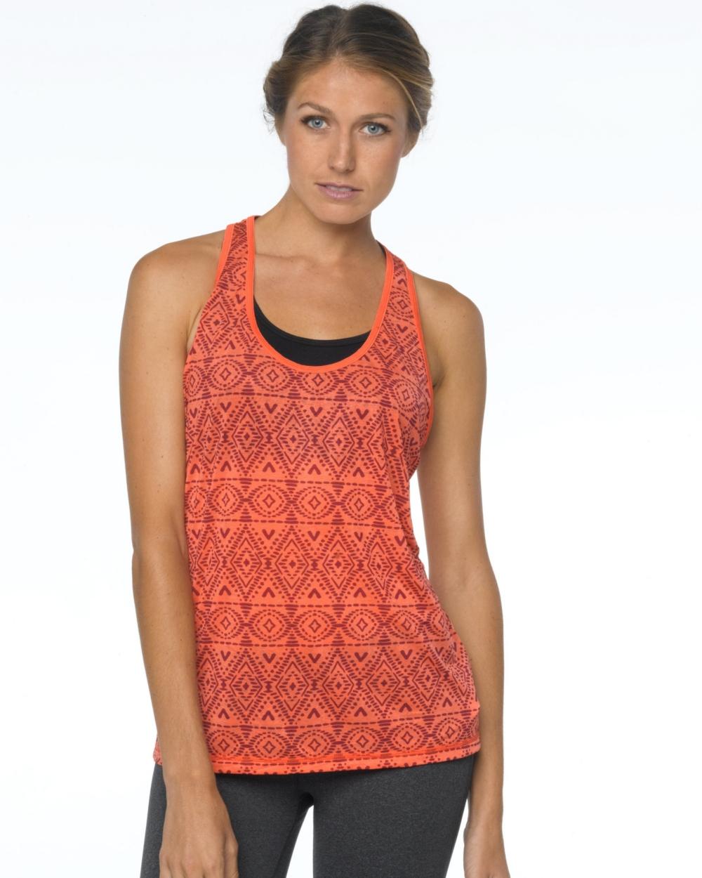 2015 Prana Activewear Luca Tank in Neon Orange