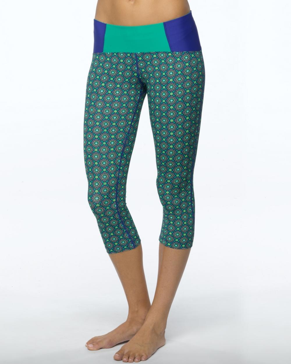 2015 Prana Activewear Rai Swim Tight in Cool Green Hyan