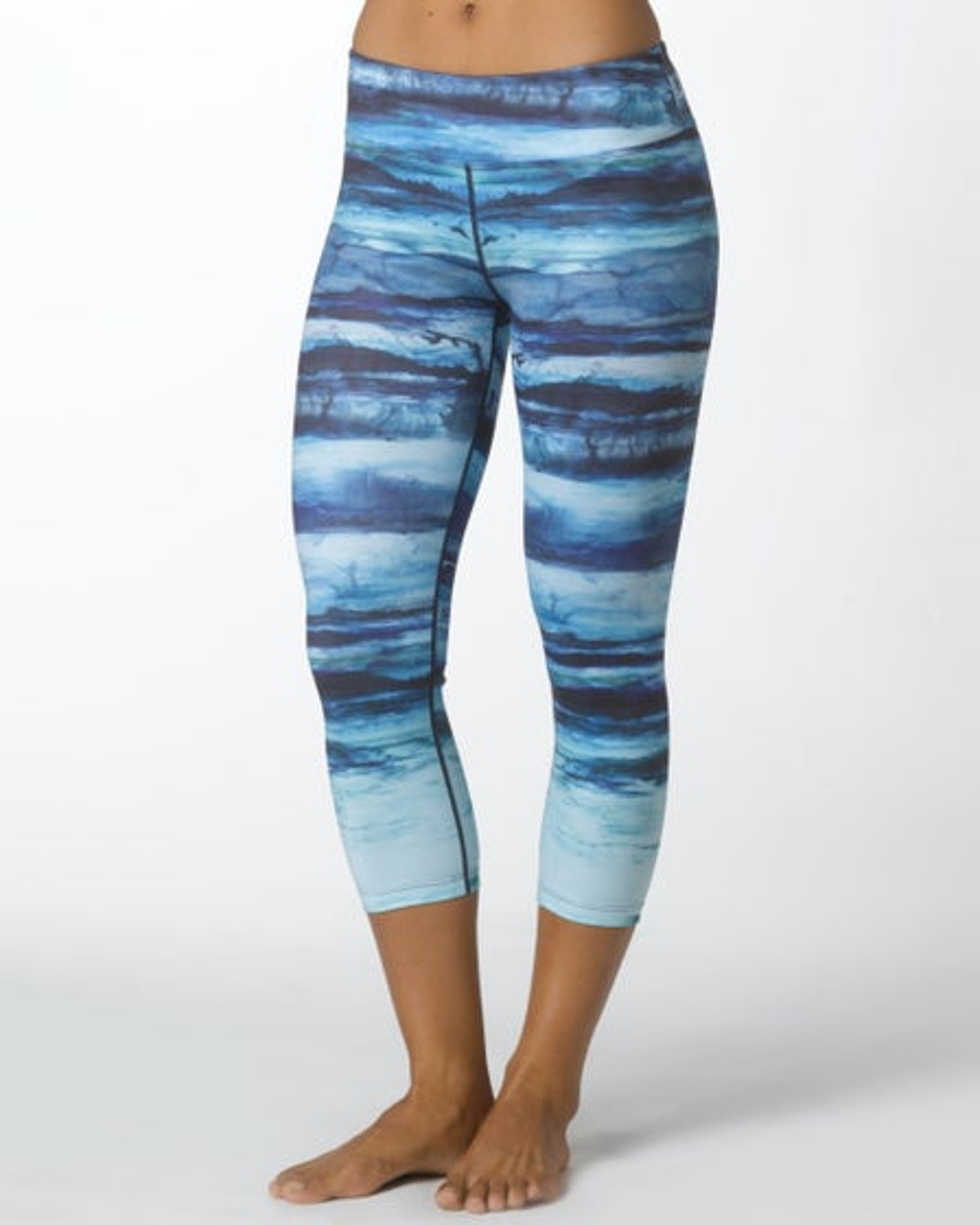 2015 Prana Activewear Roxanne Capri in Teal Tide