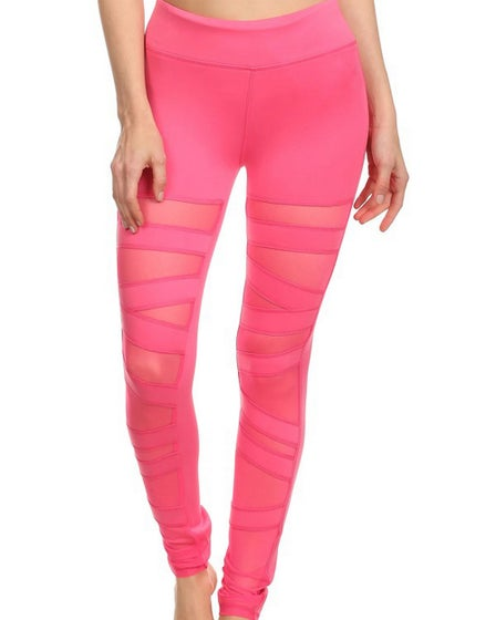 2016 Electric Yoga Ballerina Lace Up Legging in Hot Pink front