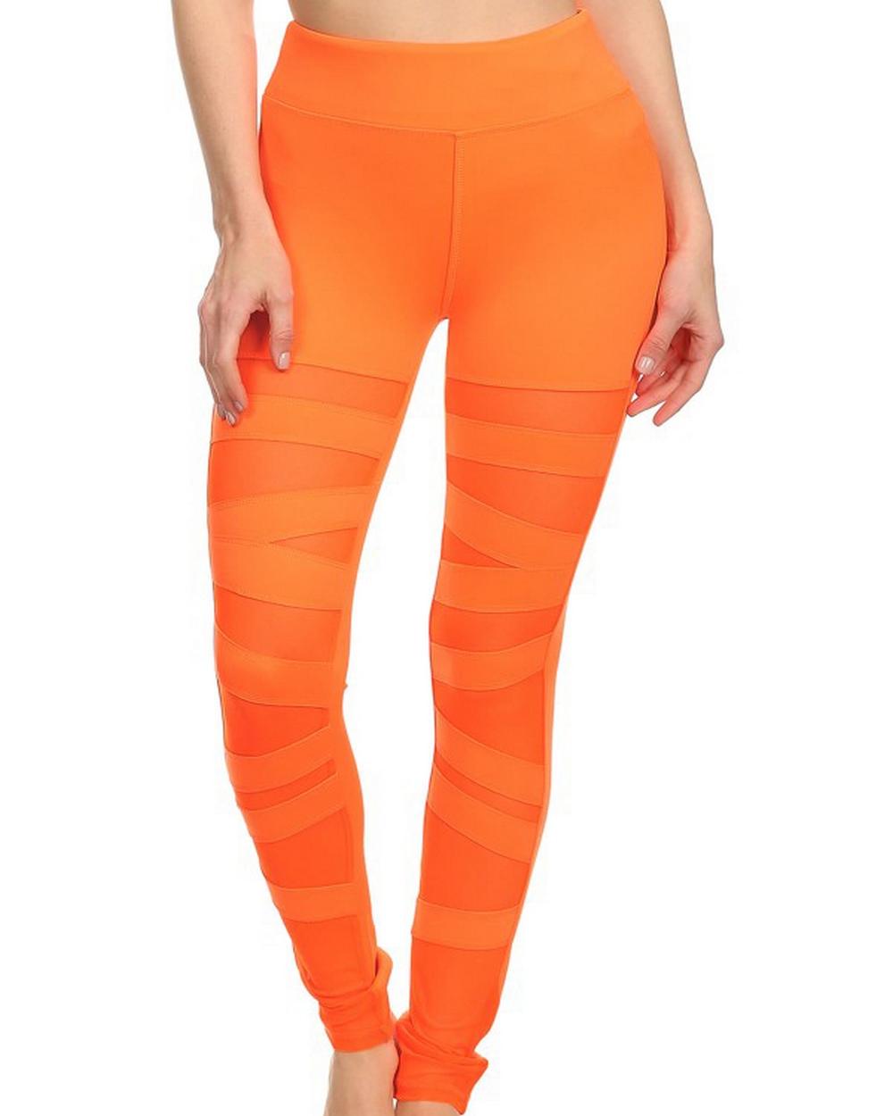 2016 Electric Yoga Ballerina Lace Up Legging in Orange
