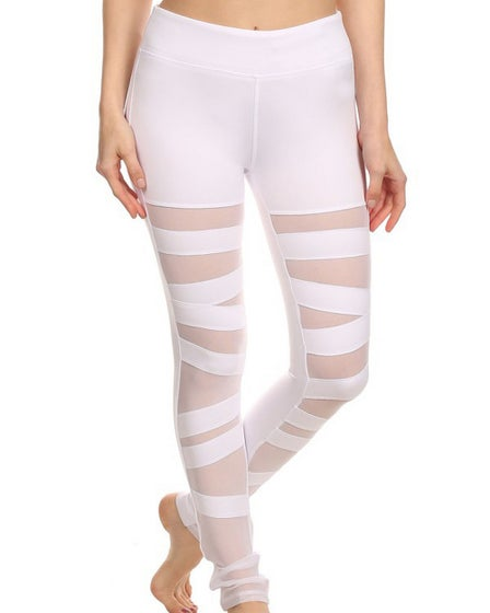 2016 Electric Yoga Ballerina Lace Up Legging in White front