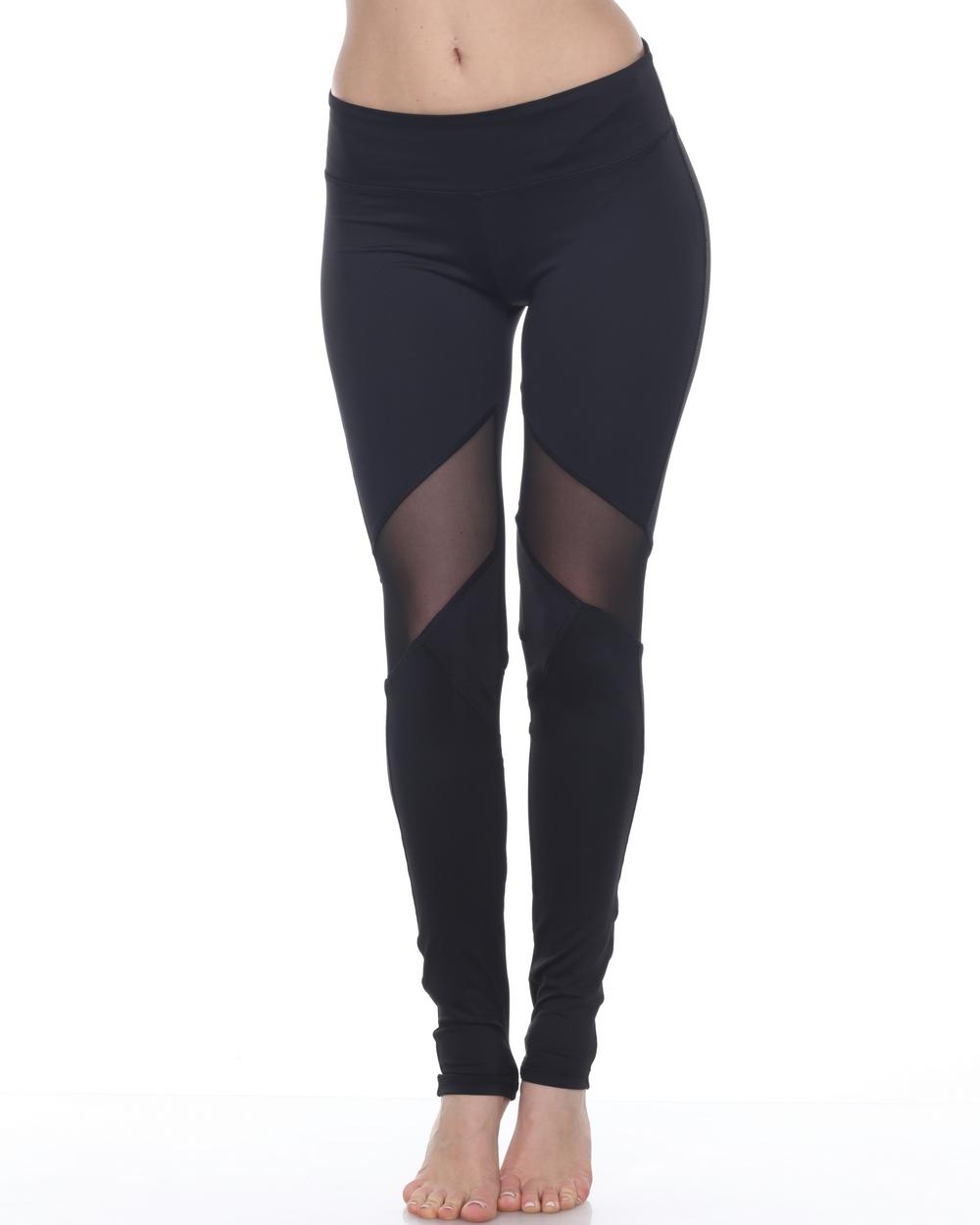 2016 Electric Yoga V-Line Mesh Legging in Black