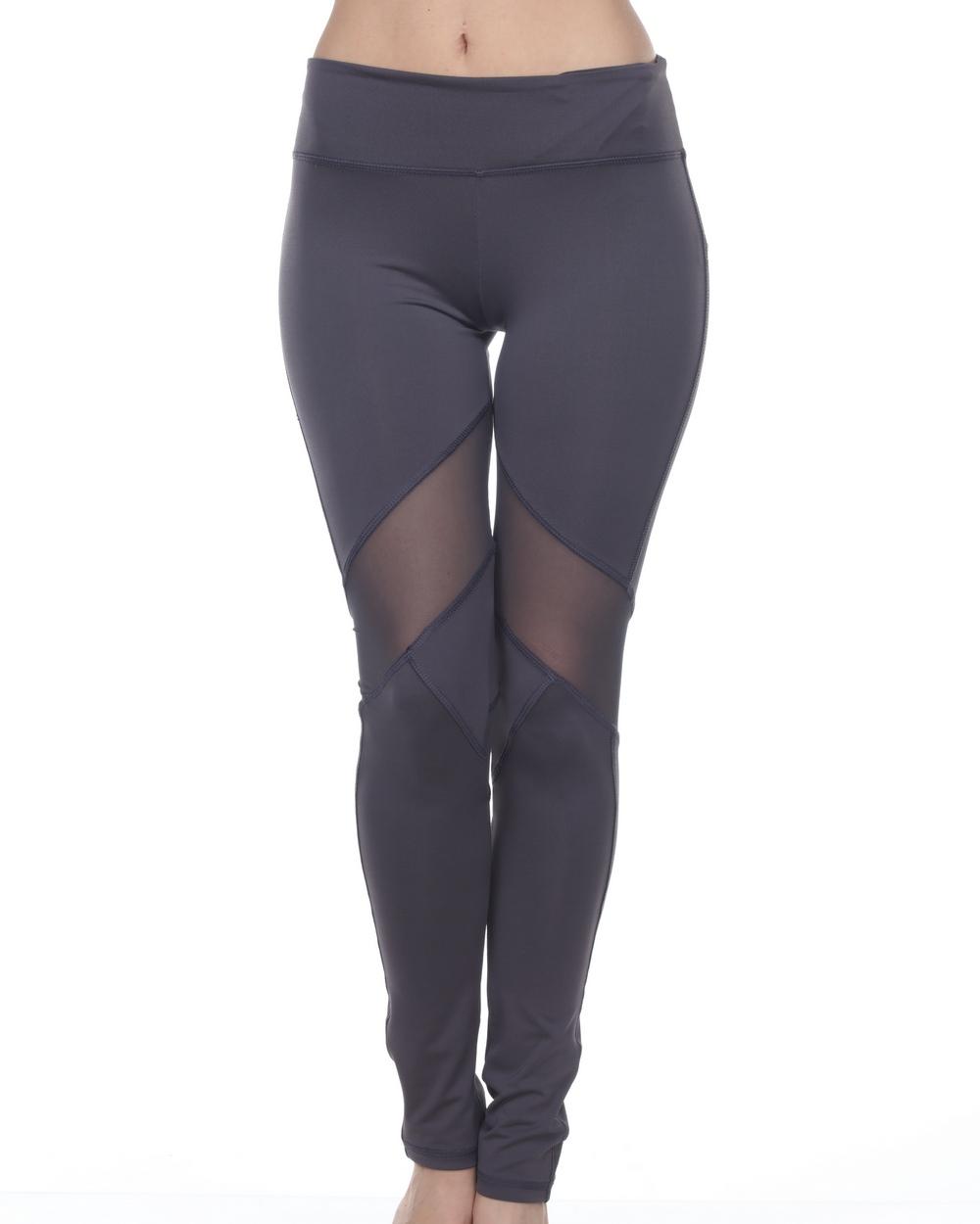2016 Electric Yoga V-Line Mesh Legging in Charcoal