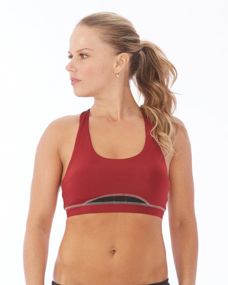 2016 Electric Yoga Lady In Red Sports Bra