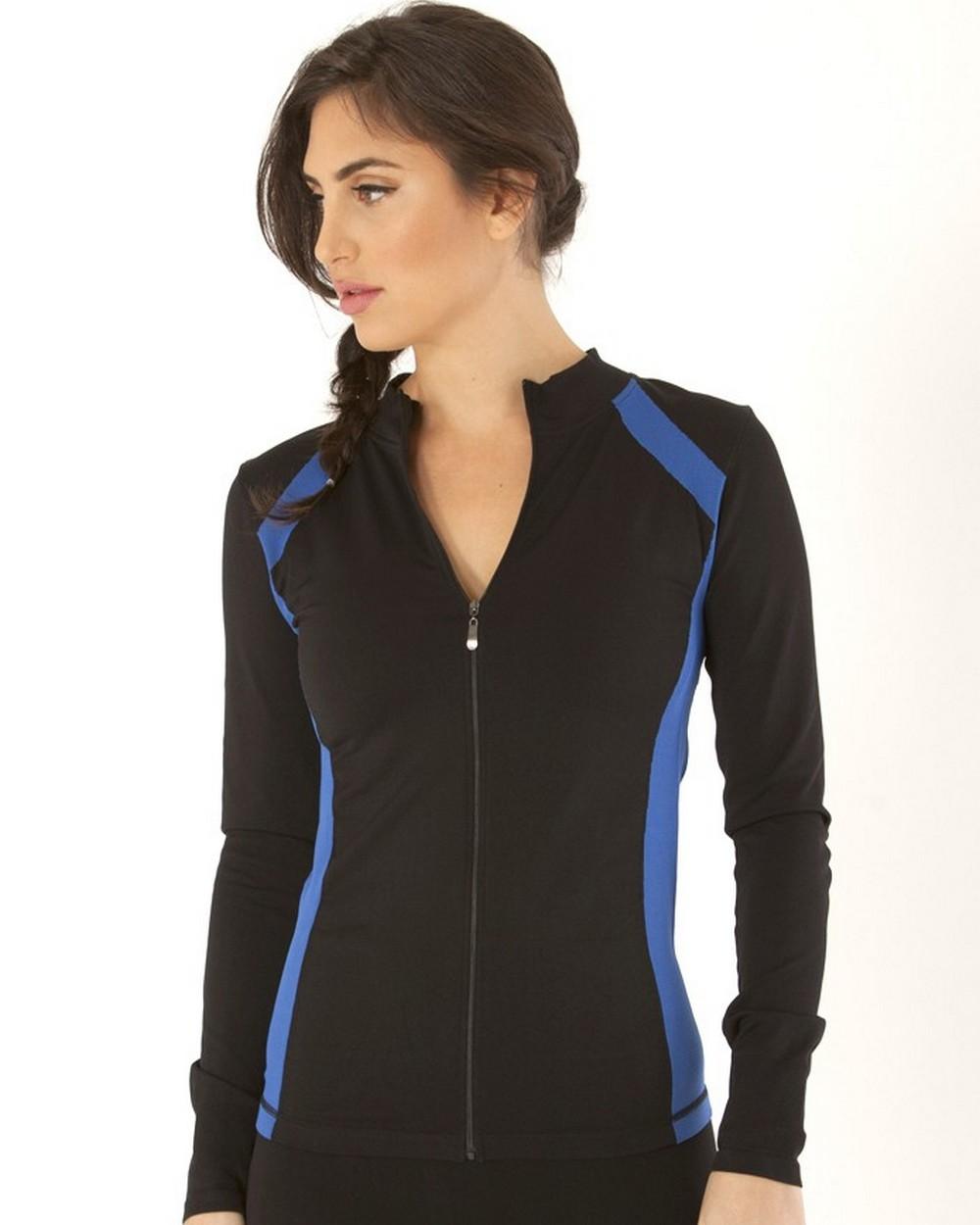 Electric Yoga Jacket with Stitching Royal Blue