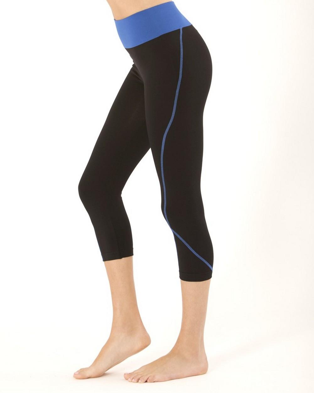 Electric Yoga Capri with Stitching Royal Blue