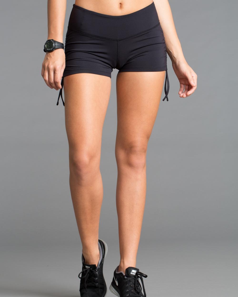 2016 Cozy Orange Solstice Shorts in Raven Black