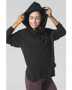 925fit Black From The Hoodie Top