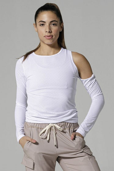 925fit White I Spy Long Sleeve Top
