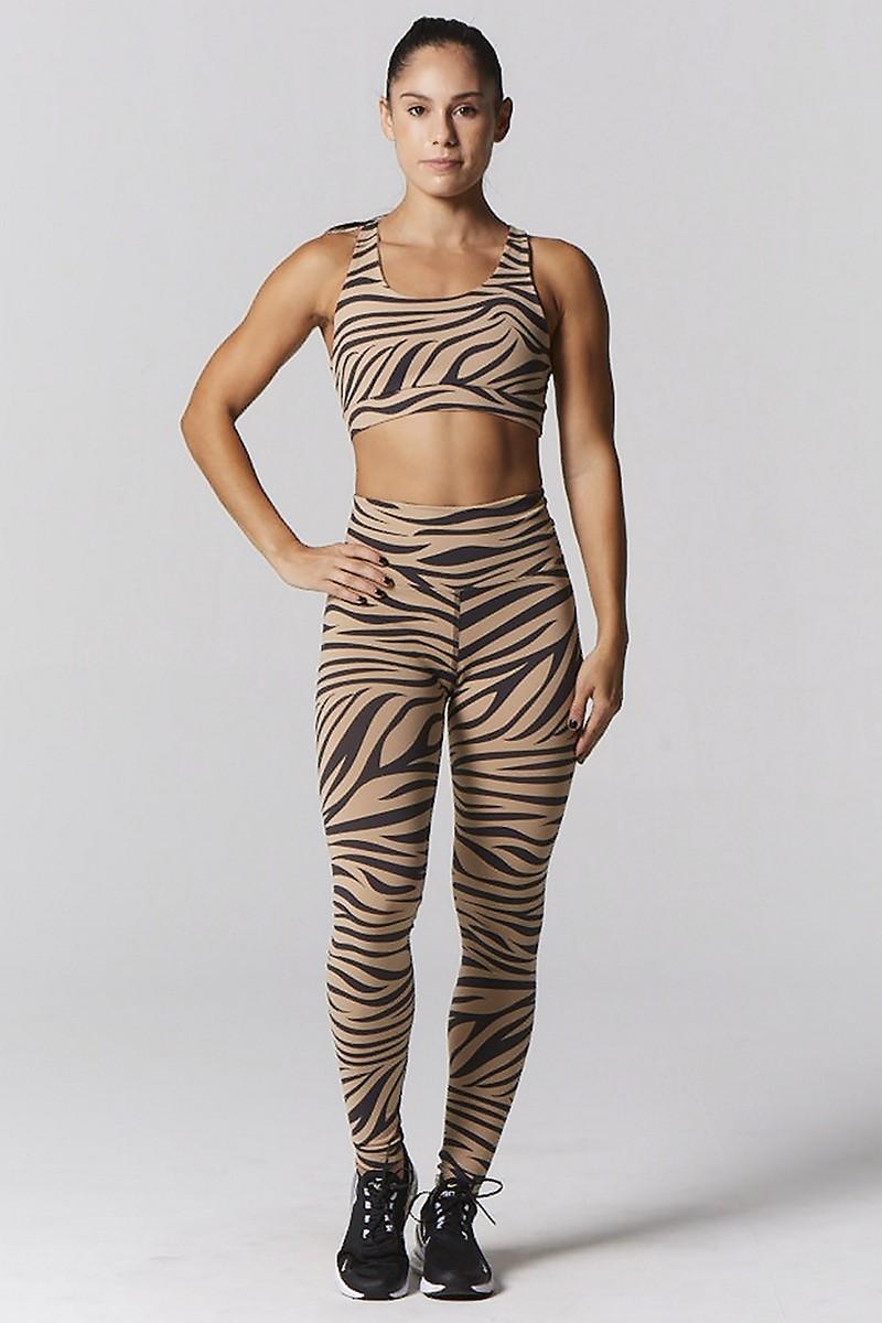 925fit Zebra Camel Hi Standards Legging