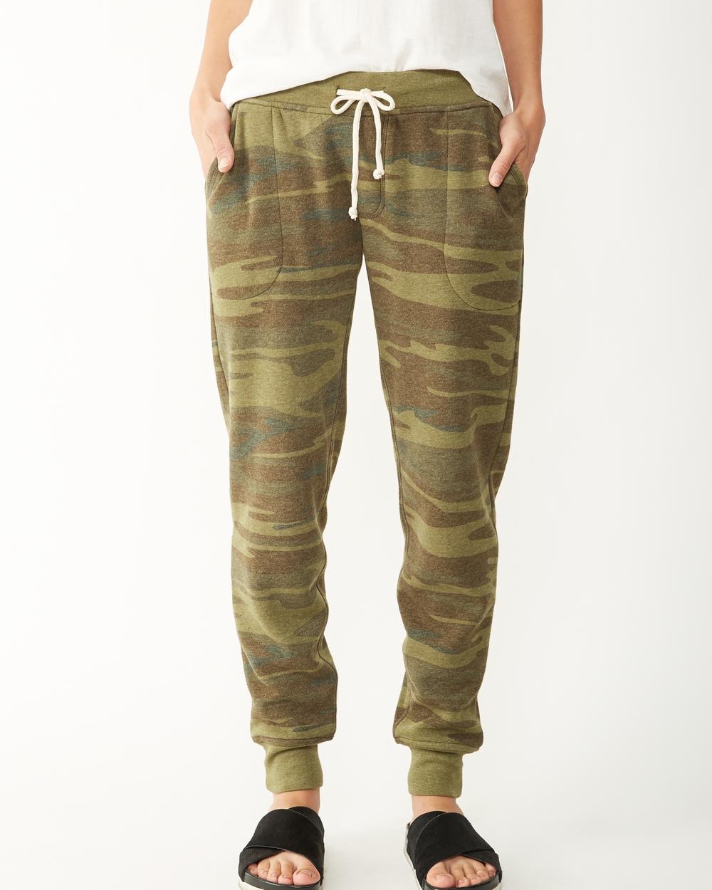 Alternative Apparel Printed Camo Fleece Jogger Pant