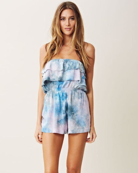 Blue Life Double Up Ruffle Romper