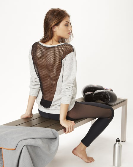2015 Blue Life Fit Mesh Sweater Rear