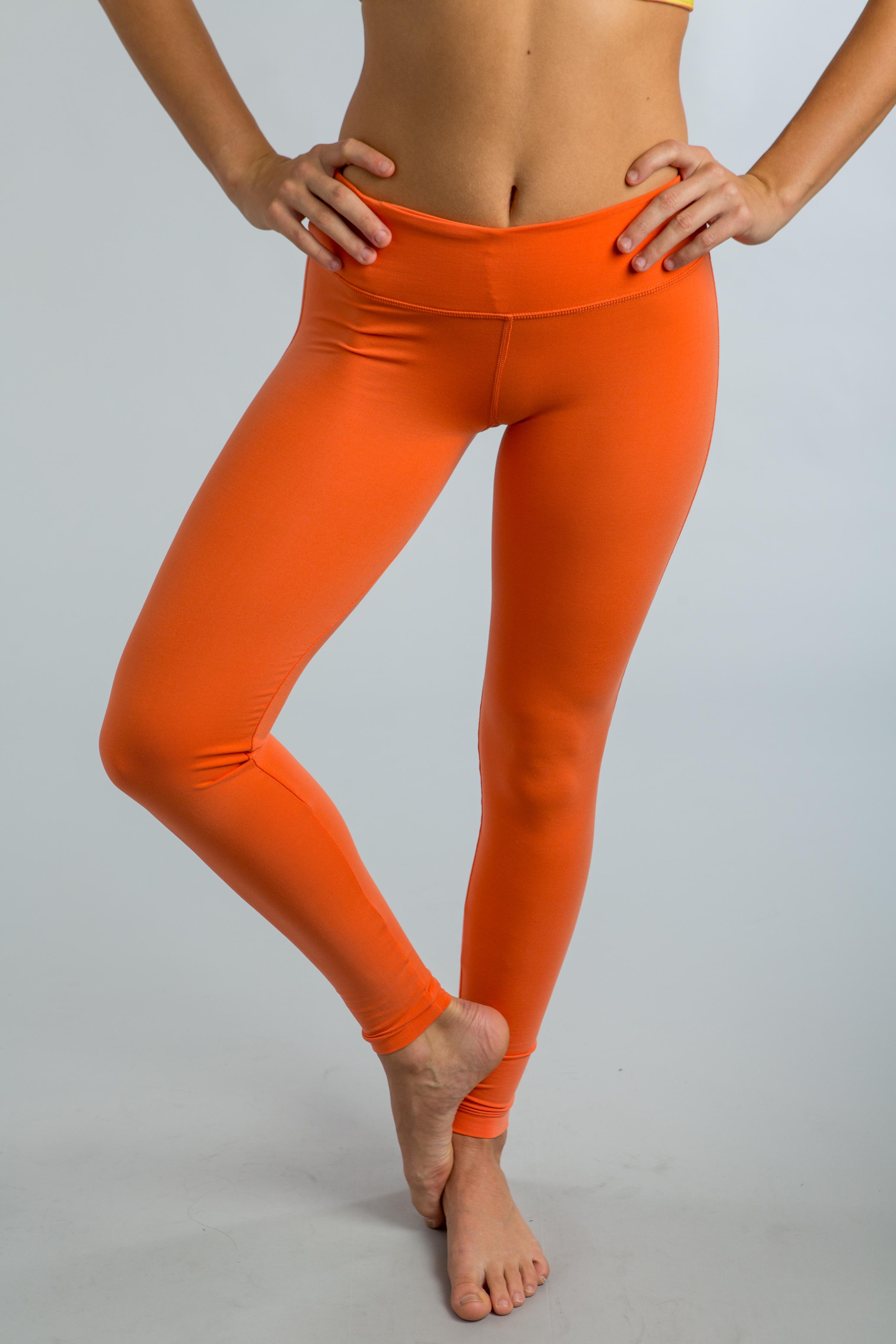2015 Cozy Orange Papaya Leo Leggings