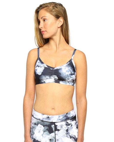 2015 Electric & Rose Rialto Bralette in Black and White Floral