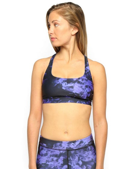 2015 Electric & Rose Speedway Bra in Purple Floral