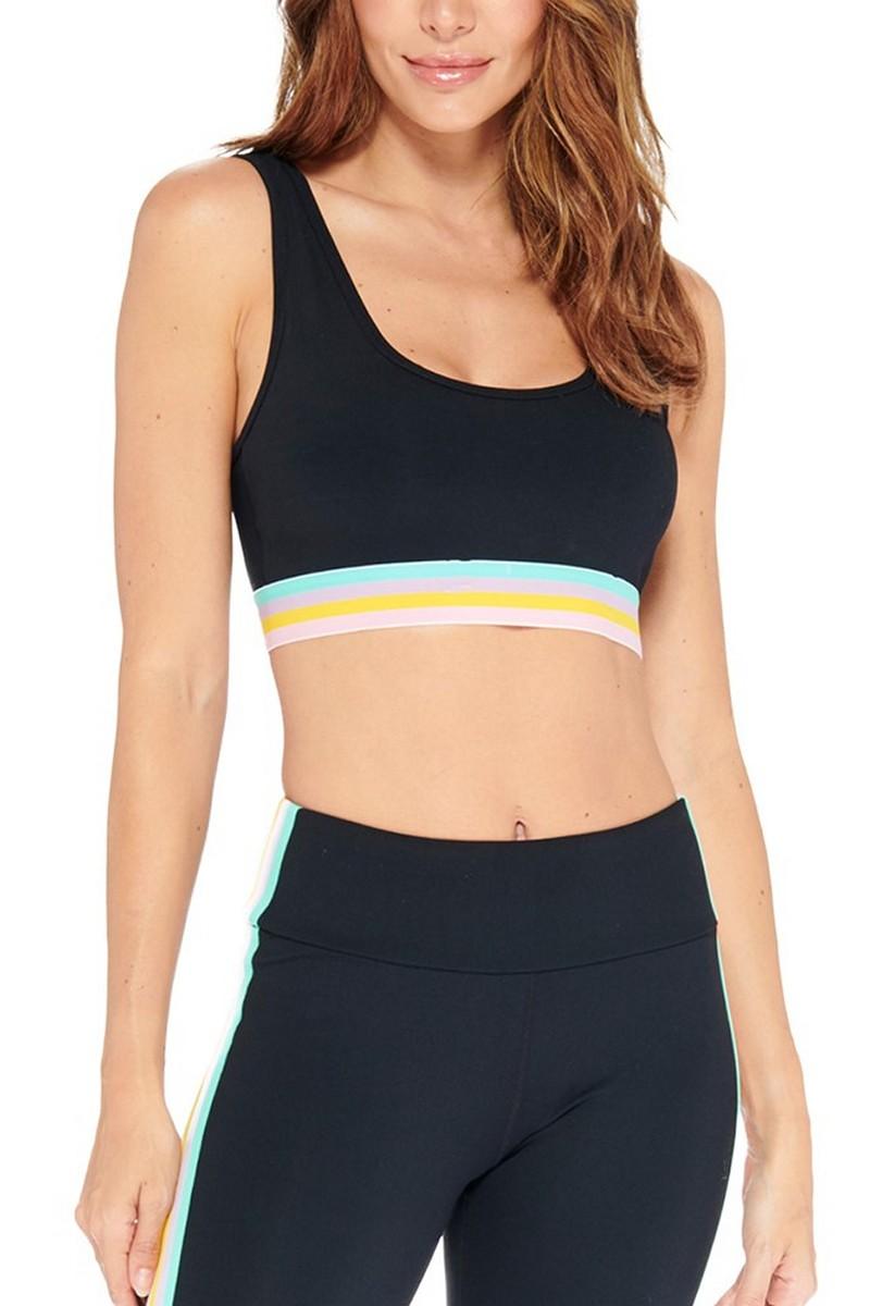 Electric Yoga Black Milo Rainbow Sports Bra