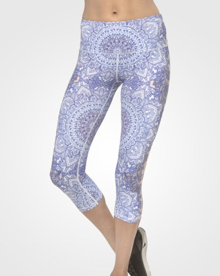 2016 Just Live Yoga Crop Pants in China Blue