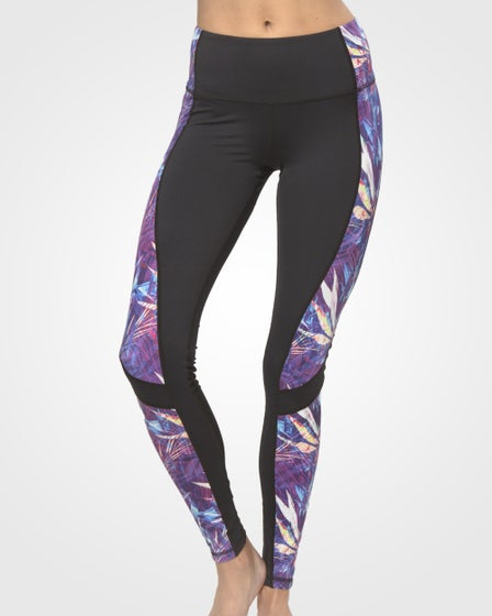 2016 Just Live Power Through Yoga Pants in Purple Paradise
