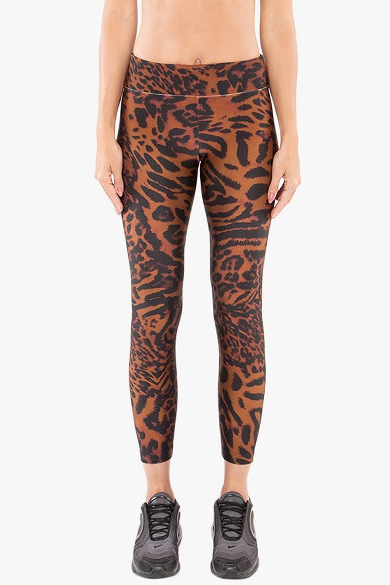 Koral Activewear Drive Brown Cheetara High Rise Legging