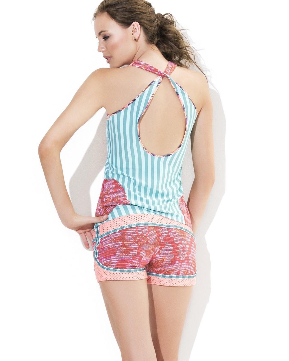 2015 Maaji Studio Activewear Legendary Pixels Shorts Rear