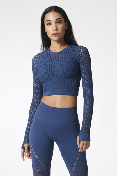 Nux Active Astral Aura Holy Smokes Long Sleeve Crop