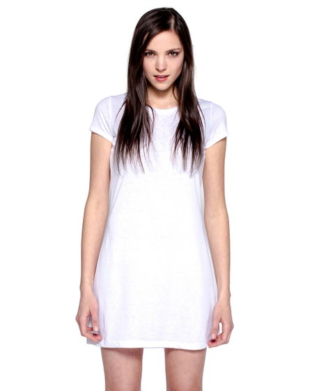 Perspectives Essential Tee Shirt Dress White