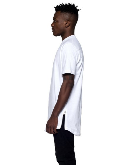 Perspectives Essential Zipper Tee in White