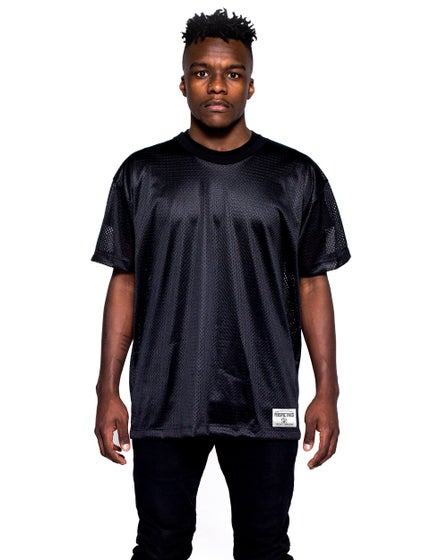 Perspectives Midnight Mesh Tee in Black