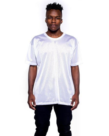 Perspectives Midnight Mesh Tee in White