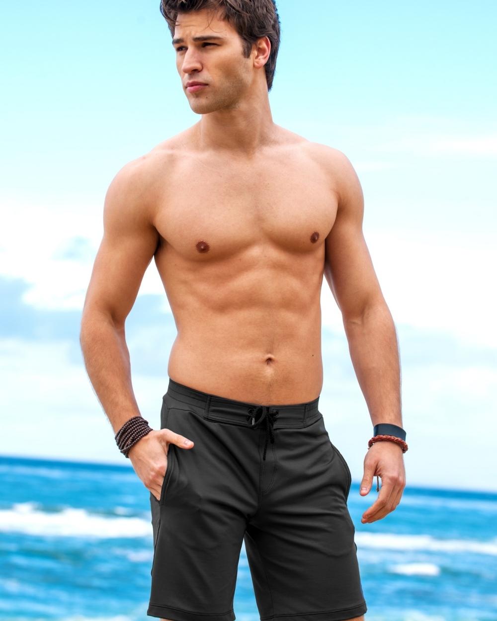 2015 Sauvage Active Men's Grey Active Workout Surf Short