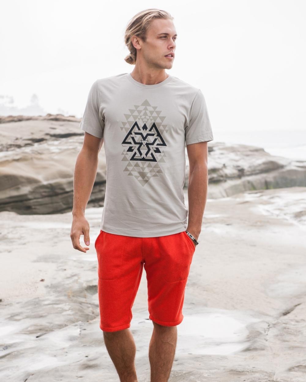 2015 Sauvage Active Men's Grey Tribal T-Shirt