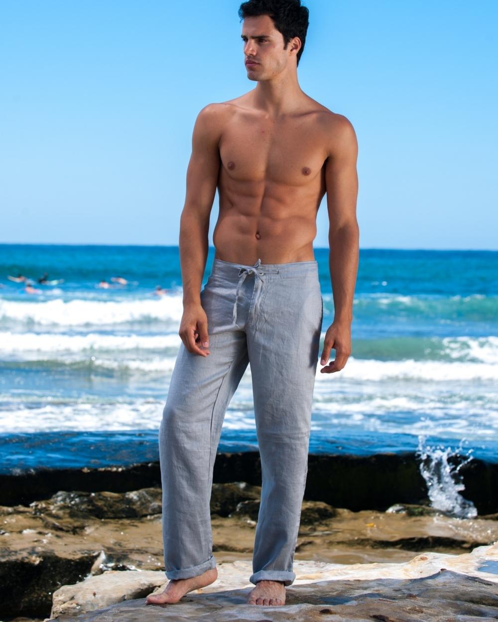 2015 Sauvage Active Men's Stone Linen Pant