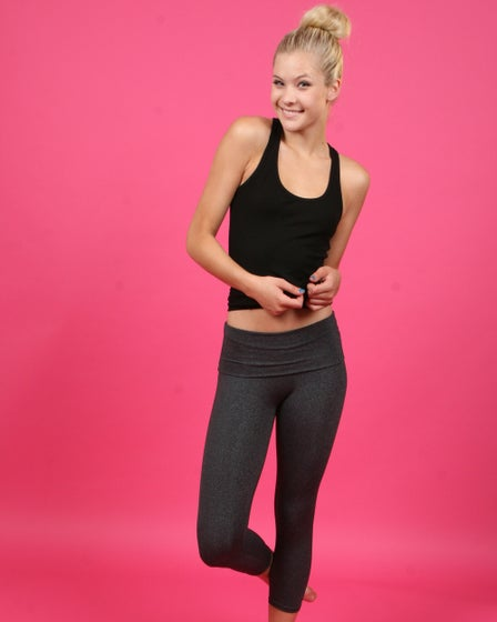 SoLow Eclon Fold Over Crop Leggings Work Out Capris