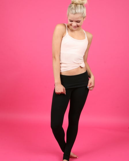 SoLow Fold Over Barre Leggings With Footholes