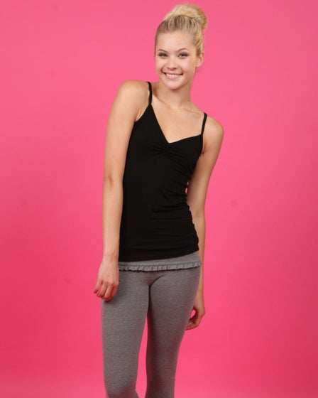 SoLow Shirred Front Layering Cami Womens Camis