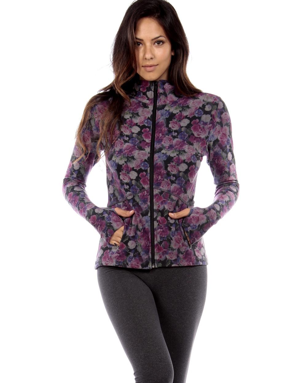 Strut This Lively Jacket Purple Floral