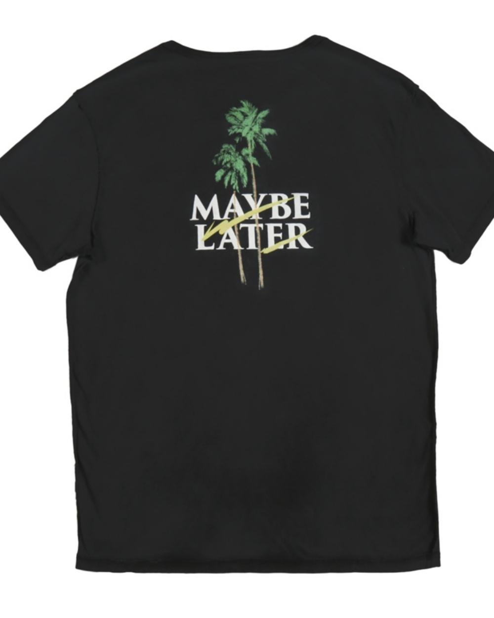 2015 Tavik Men's Black Maybe Later T-Shirt - Back