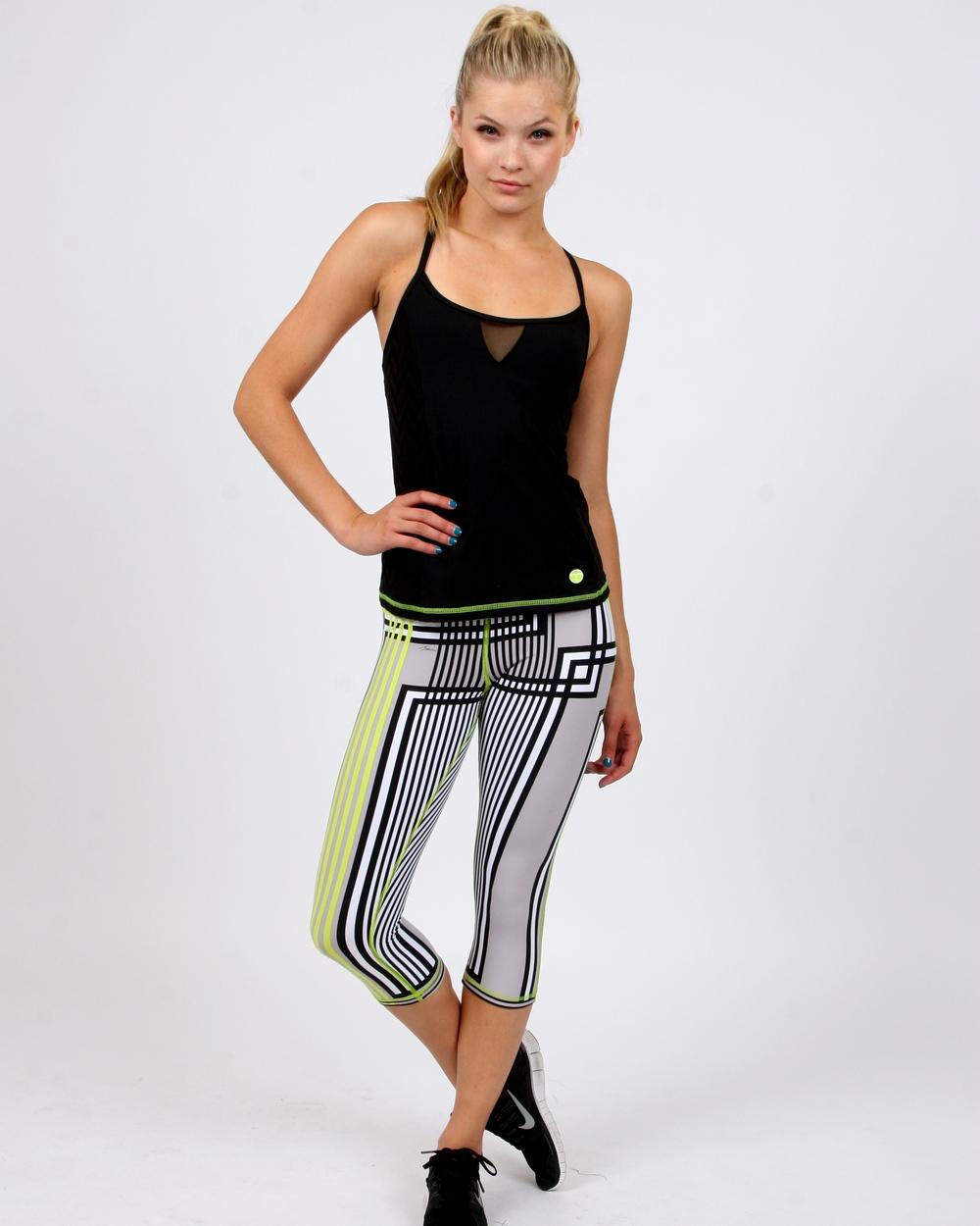 Trina Turk Activewear Stripe Hype Capri