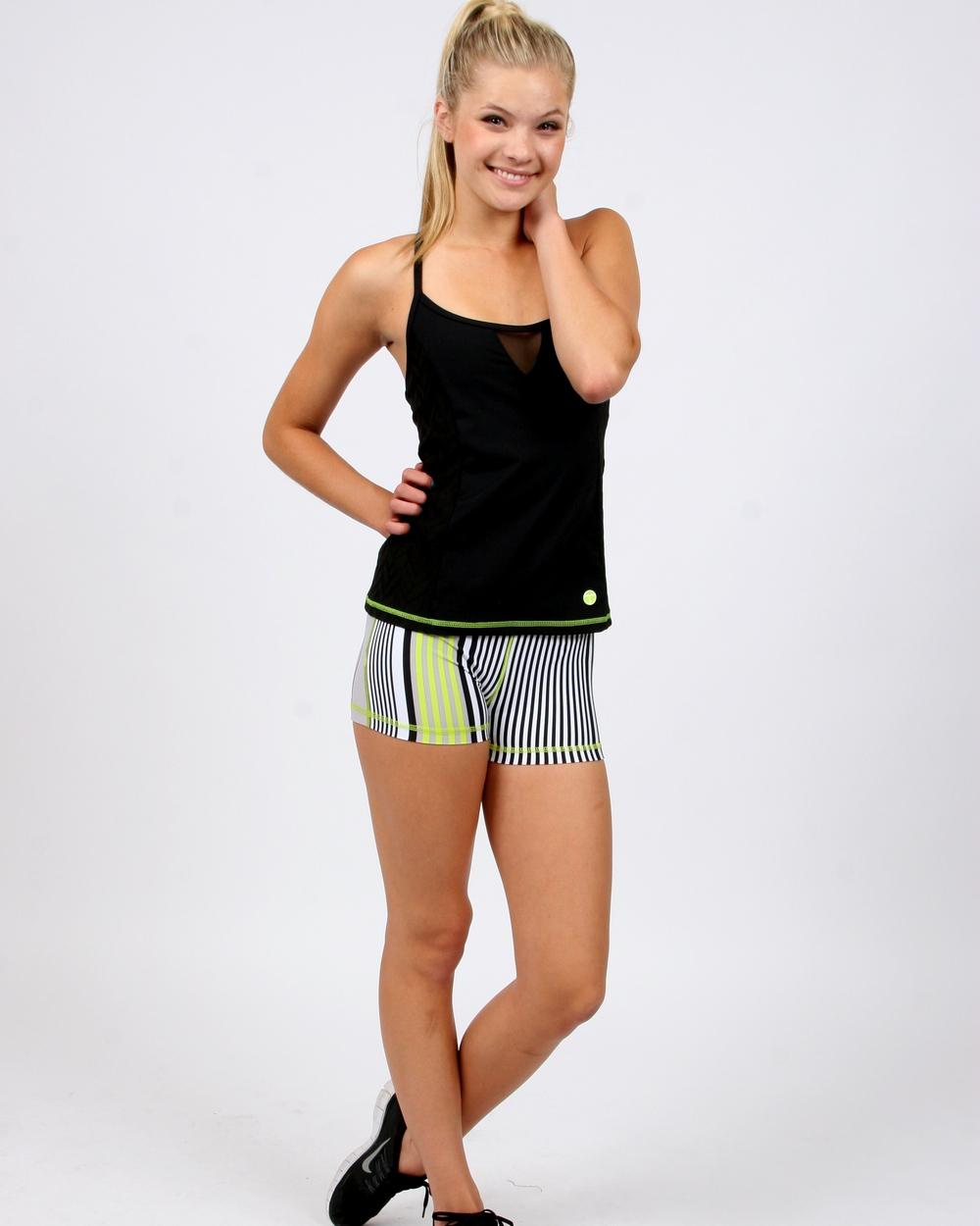 Trina Turk Activewear Stripe Hype Shorts