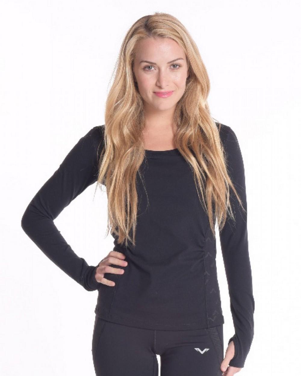 2016 Vipe Activewear Ease Long Sleeve Top Black