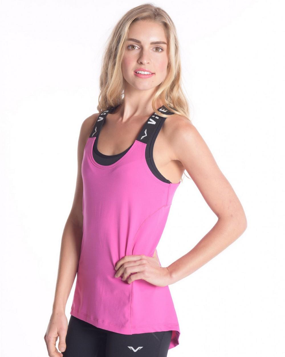 2016 Vipe Activewear Soul Serenity Tank Hot Pink