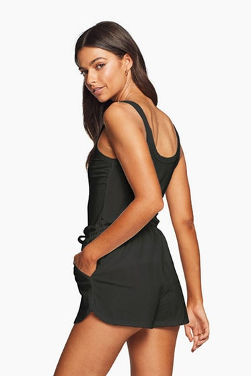 Vitamin A Organic Rib Black Thalia Shorts