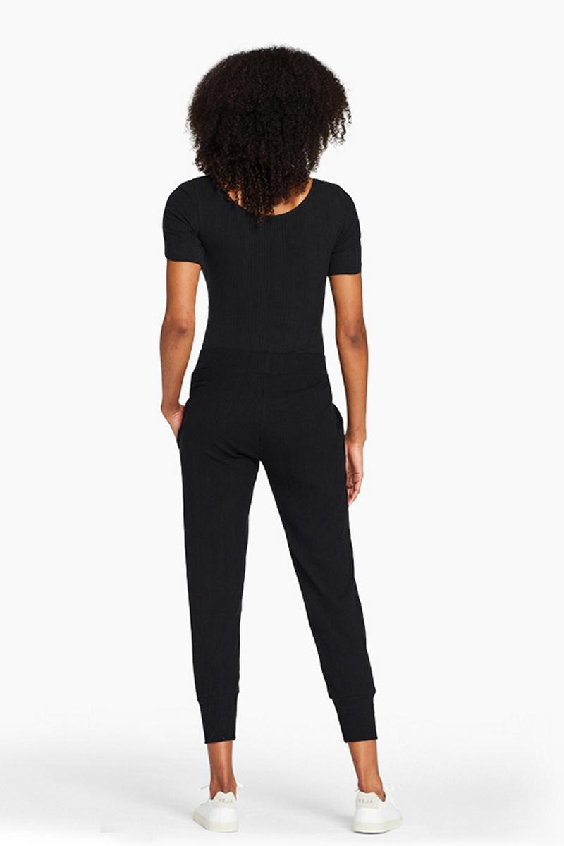 Vitamin A Organic Rib Black West Bodysuit