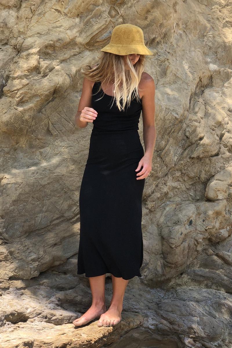 Vitamin A Organic Rib Black West Dress