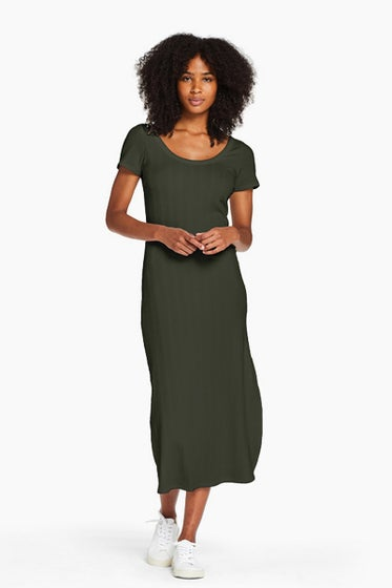 Vitamin A Organic Rib Forest Catalina Tee Dress