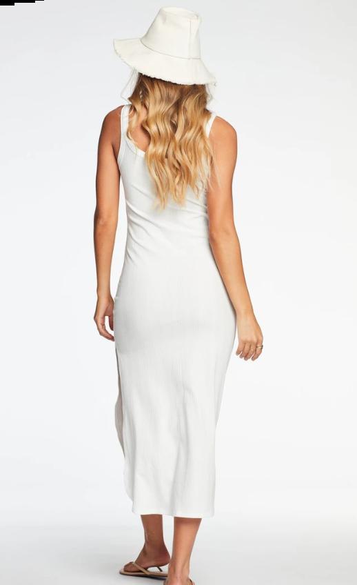 Vitamin A Organic Rib White West Dress